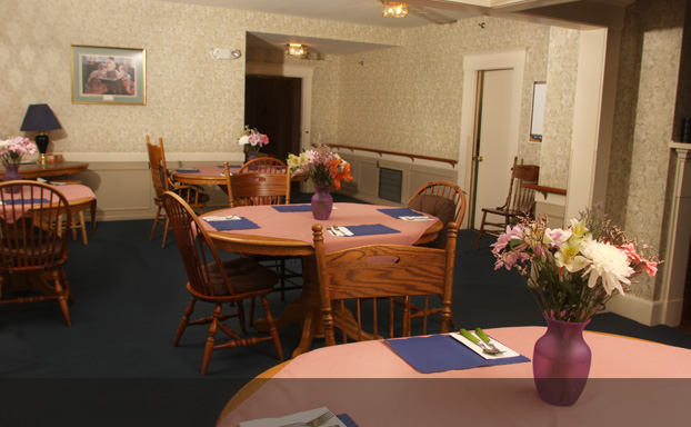 Family style meals are served in our dining room.